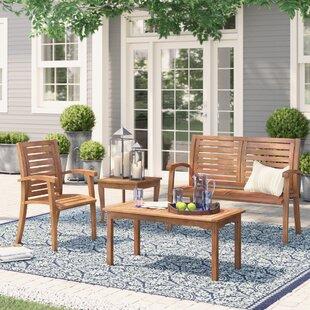 Roseland Eucalyptus 4 Piece Sofa Seating Group