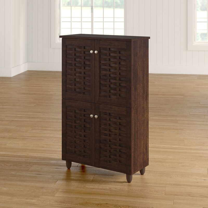 Carnegie 18 Pair Shoe Storage Cabinet
