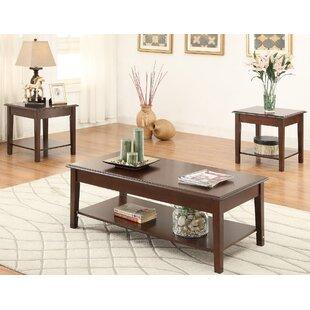 A&J Homes Studio Hillwood 3 Piece Coffee Table Set