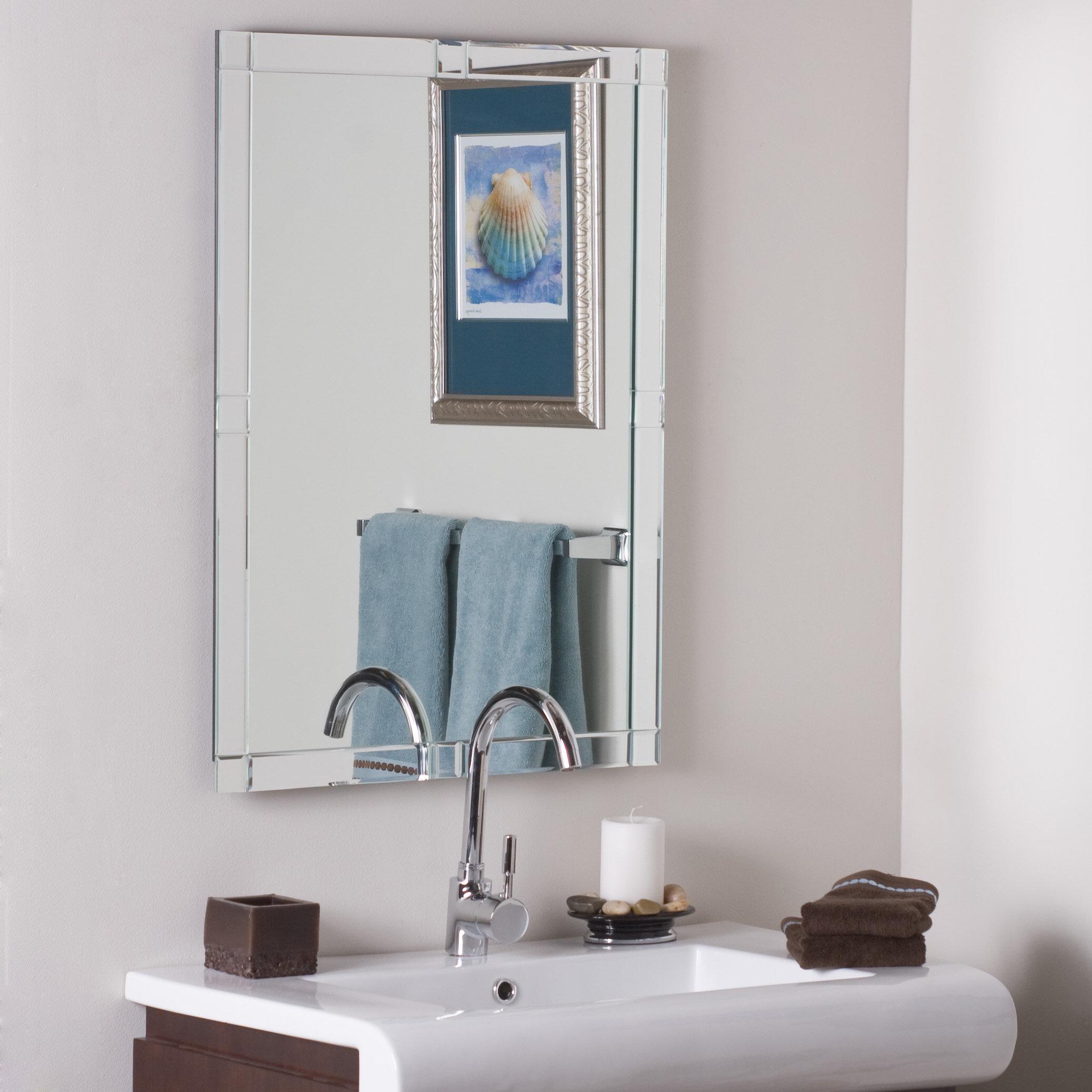 wade logan frameless wall mirror reviews wayfair
