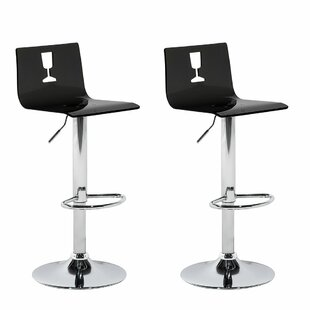 Brockington Adjustable Height Swivel Bar Stool (Set of 2) by Orren Ellis