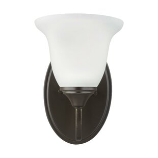 Maura 1-Light Armed Sconce by Charlton Home