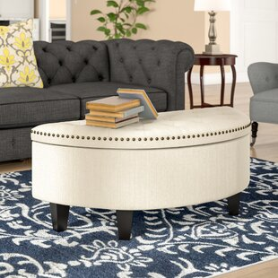 Drake Tufted Storage Ottoman by Three Posts