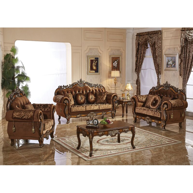 Astoria Grand Hosmer Nationwide 3 Piece Standard Living Room Set Wayfair