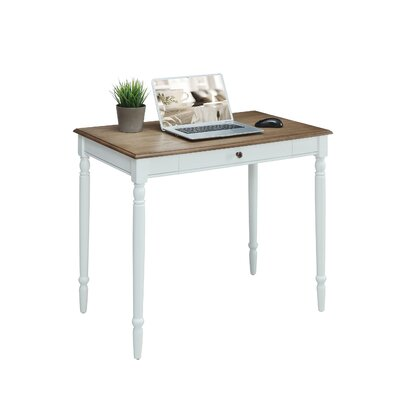 Ariella Solid Wood Desk Color: Driftwood/White by Andover Mills