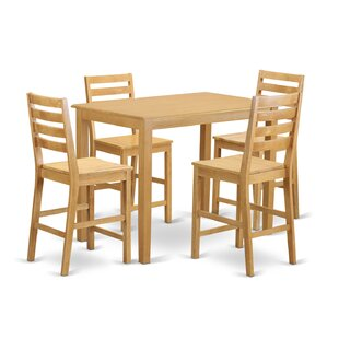 Yarmouth 5 Piece Counter Height Pub Table Set Wooden Importers