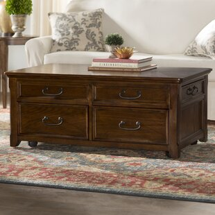 Mathis Coffee Table Trunk with Lift Top Darby Home Co