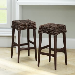 Albury Bar Stool (Set of 2) by Beachcrest Home