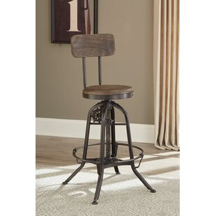 Solomon Adjustable Height Bar Stool 17 Stories