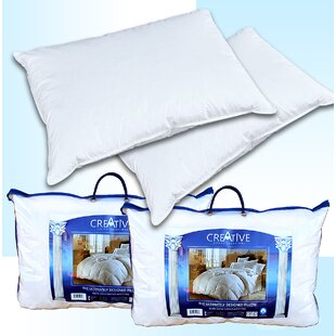 Creative Living Solutions 2 Bed Feather and Down Pillows (Set of 2)