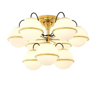 Nerano Globe 9-Light Semi Flus..