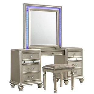 Rosdorf Park Drage Vanity Set with Mirror