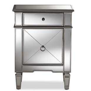 Maize Glamour 1 Drawer Nightstand by Rosdorf Park