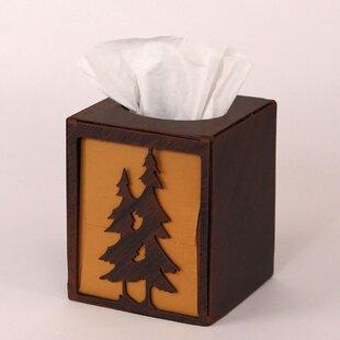 Coast Lamp Mfg. Pine Tree Square Tissue Box Cover
