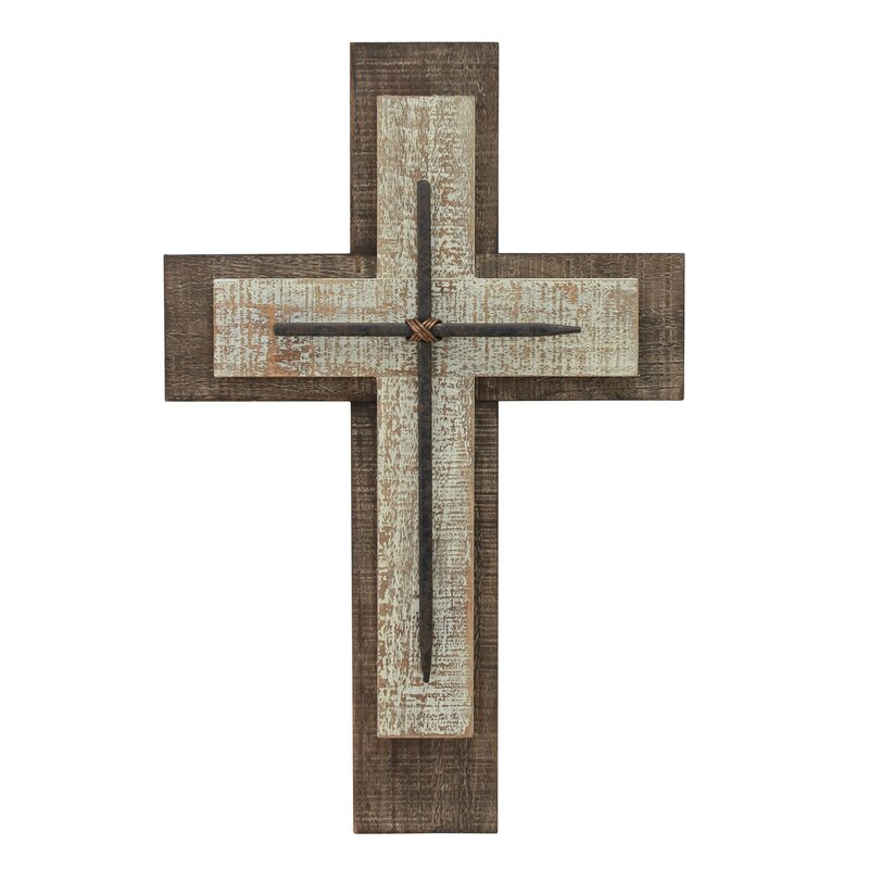 Weathered Wood Cross Wall Décor
