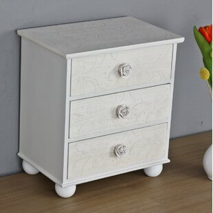 Escolta 3 Drawer Bedside Table By Lily Manor