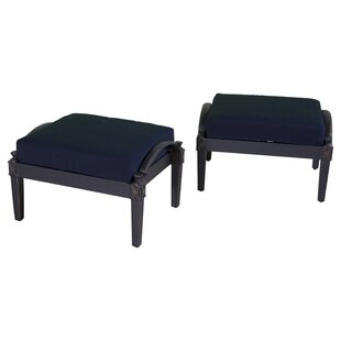 Darby Home Co Portsmouth Club Ottoman with Cushion (Set of 2)