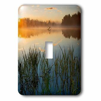 3drose Boat Excursion On Lake 1 Gang Toggle Light Switch Wall Plate Wayfair