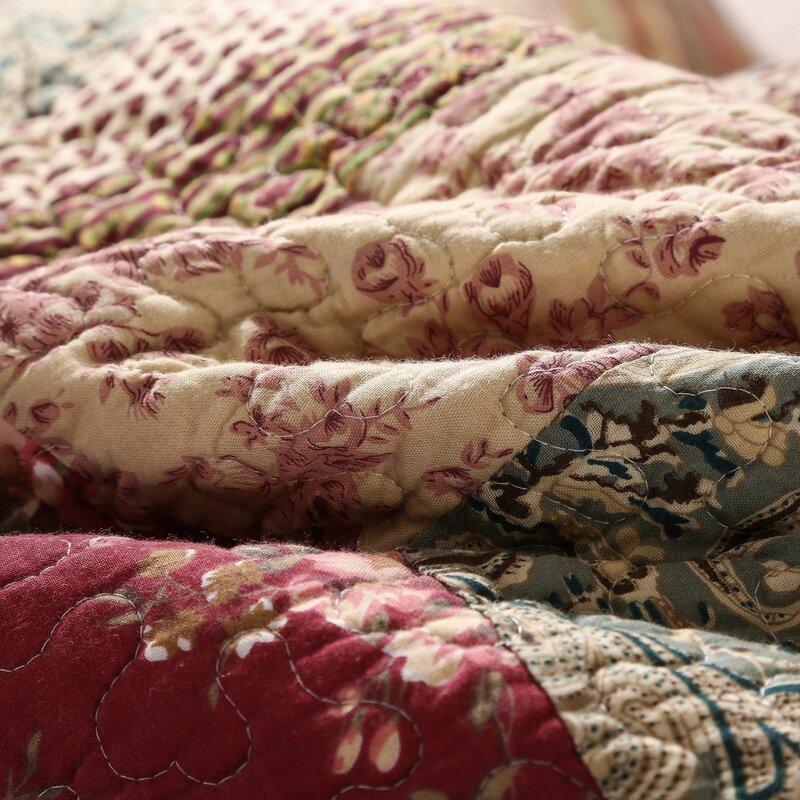 Cotton Charming Fairytale Tea Party Reversible Quilt Set