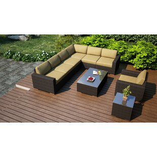 Hodge 9 Piece Sectional Set with Cushions by Rosecliff Heights