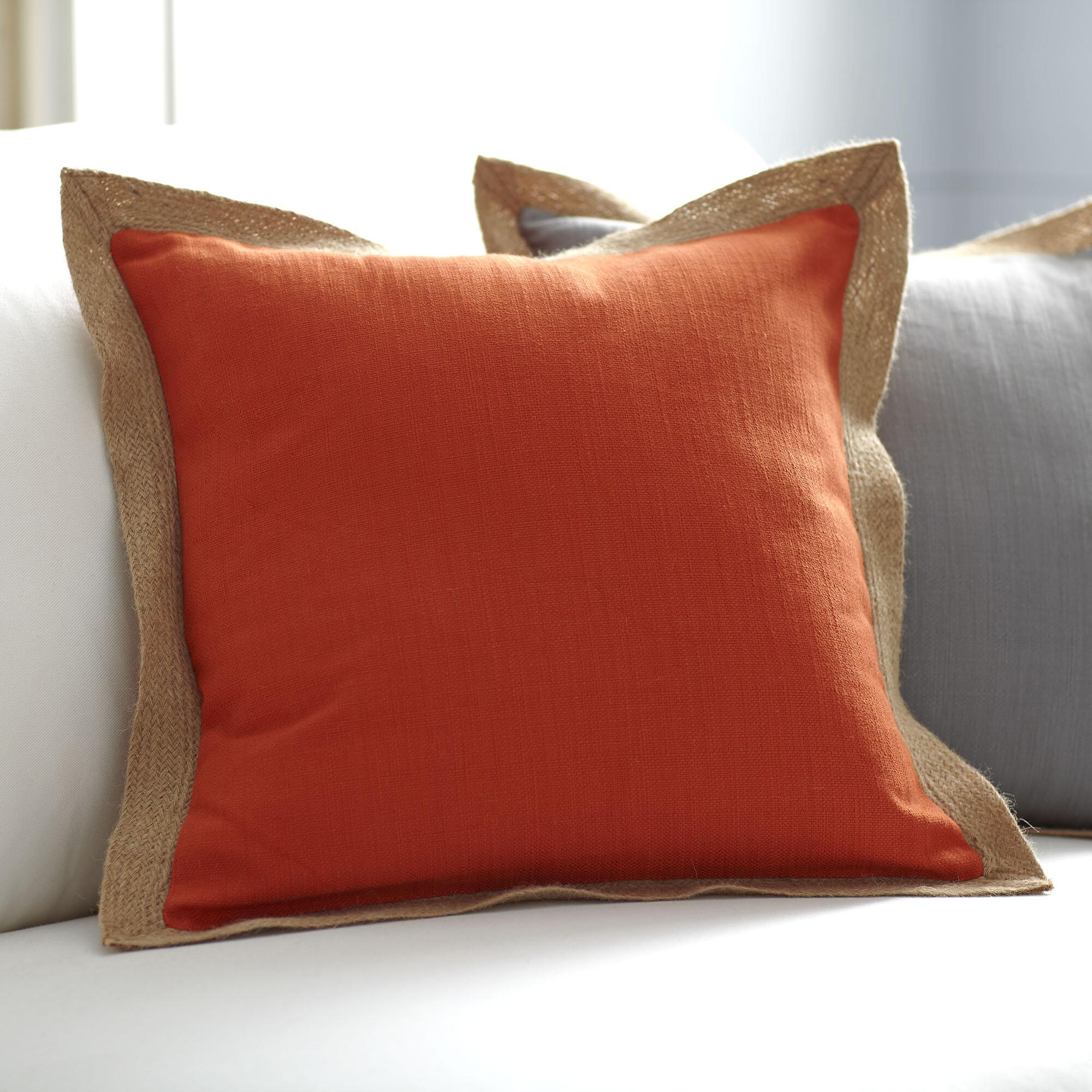 Burnt Orange Pillow Wayfair