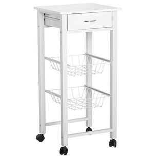 Sasha Kitchen Trolley With Manufactured Wood By 17 Stories