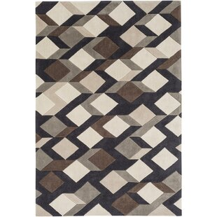 Conroy Hand-Tufted Beige/Black/Gray Area Rug