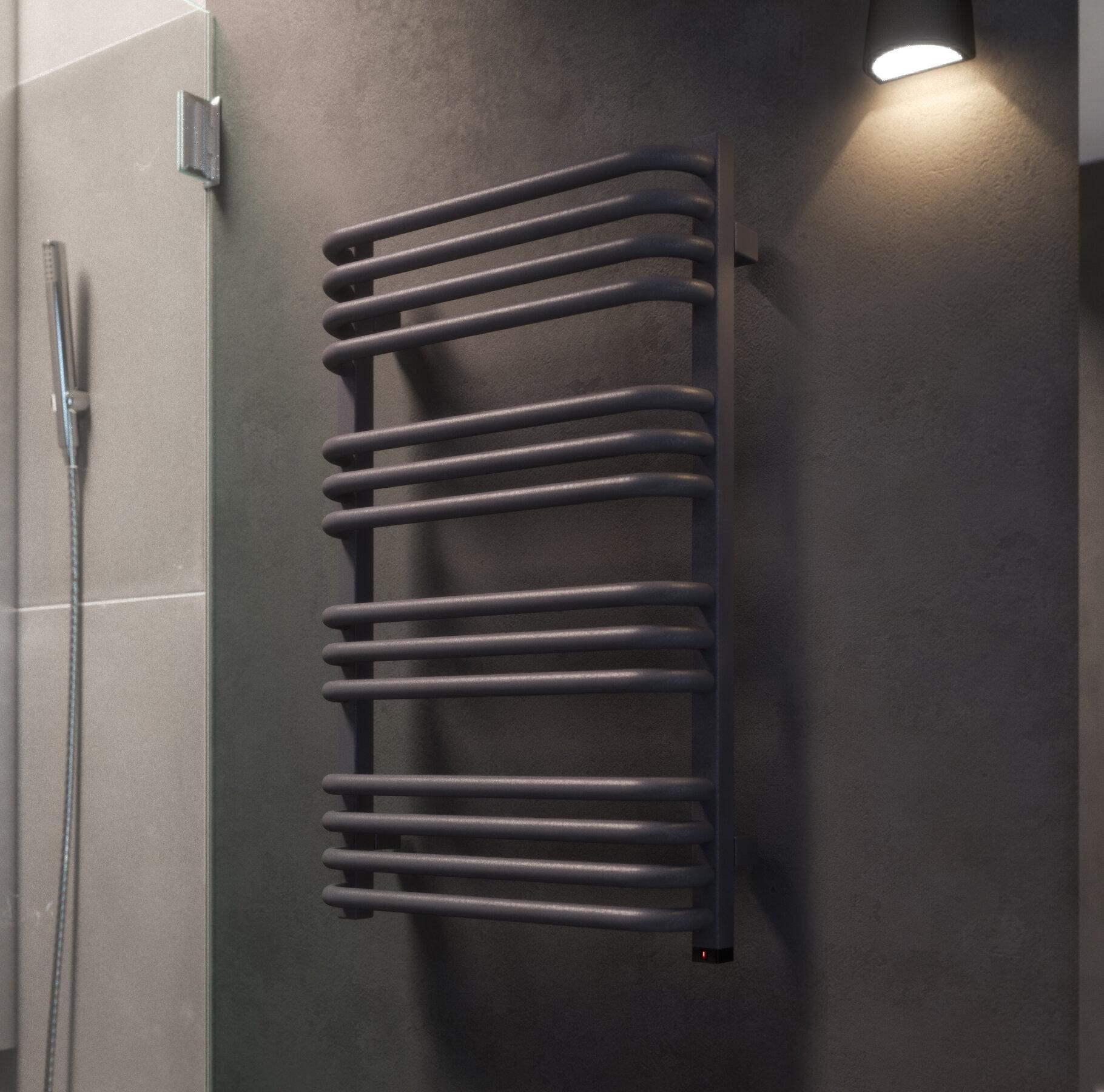 Terma Alex Vertical Curved Towel Rail Wayfair Co Uk