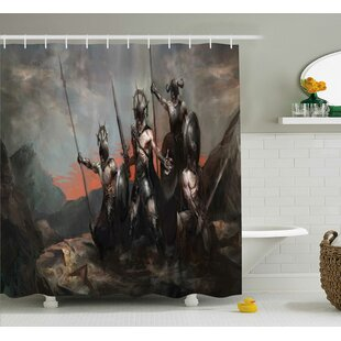 Fantasy World Medieval General Soldier Leading His Army Weapons Single Shower Curtain