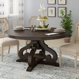 Hot Springs Solid Wood Dining Table Three Posts