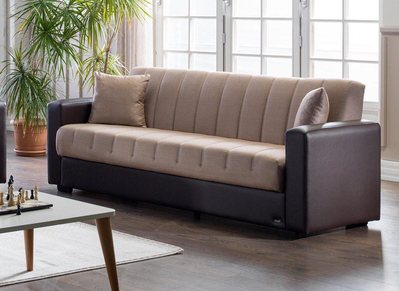 Ebern Designs Aaliyahrose 88 6 Square Arm Sofa Bed Wayfair