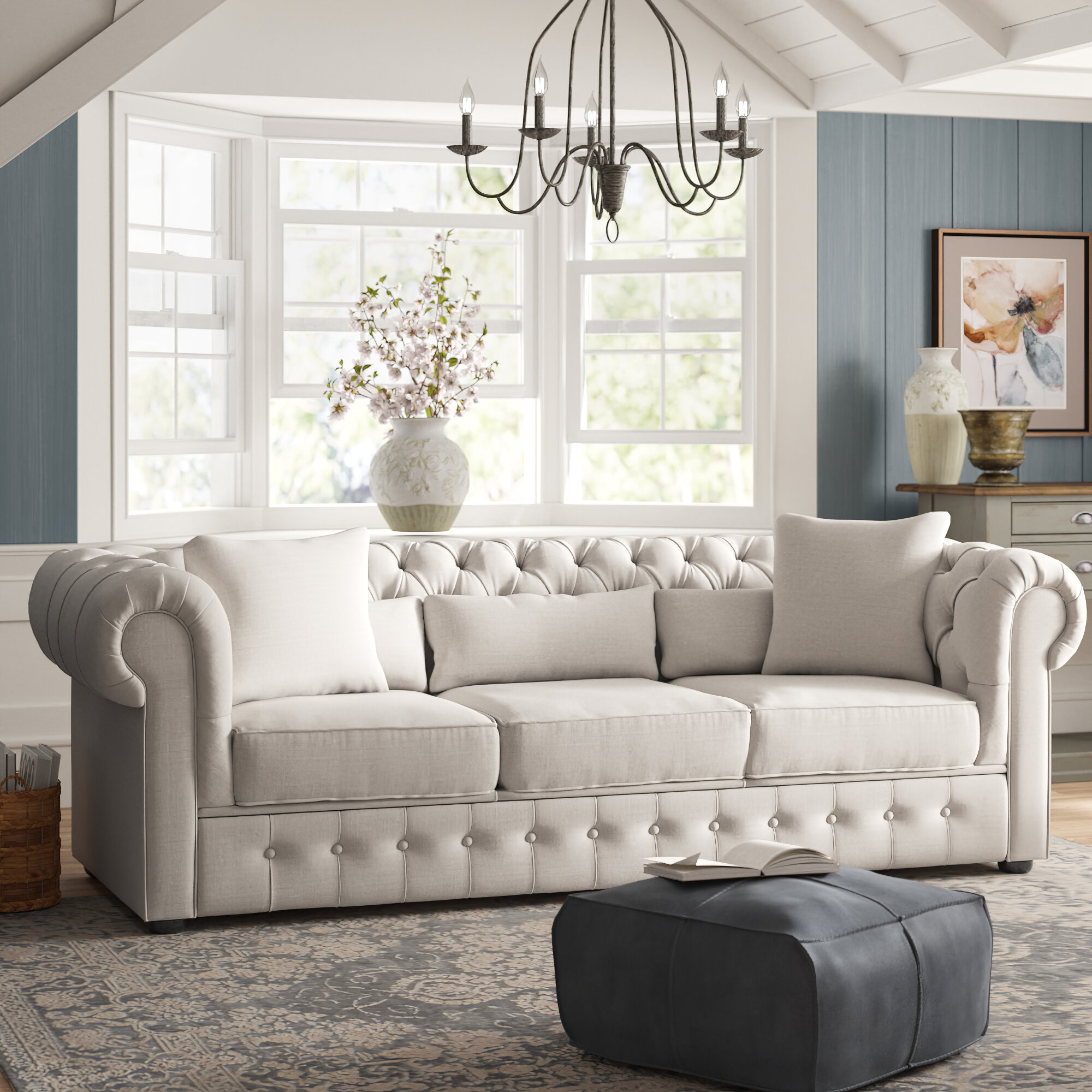Pleasant Calila Chesterfield Sofa Unemploymentrelief Wooden Chair Designs For Living Room Unemploymentrelieforg