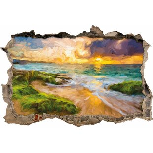 Sunset In Hawaii Wall Sticker By East Urban Home