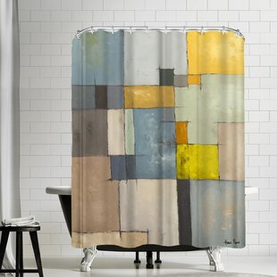 Hans Paus Abstract Single Shower Curtain