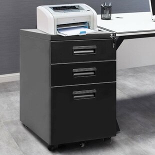 Chesnut 3 Drawer Filing Cabinet By Symple Stuff