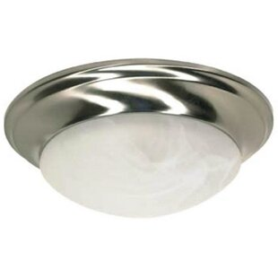 Twist and Lock 1-Light Flush Mount by Monument