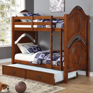 Compare prices Saffold Twin Bunk Bed with Trundle by Harriet Bee Reviews (2019) & Buyer's Guide