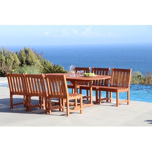 Beachcrest Home Monterry Extendable 7 Piece Dining Set