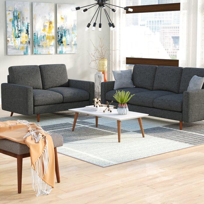 Macsen 2 Piece Living Room Set