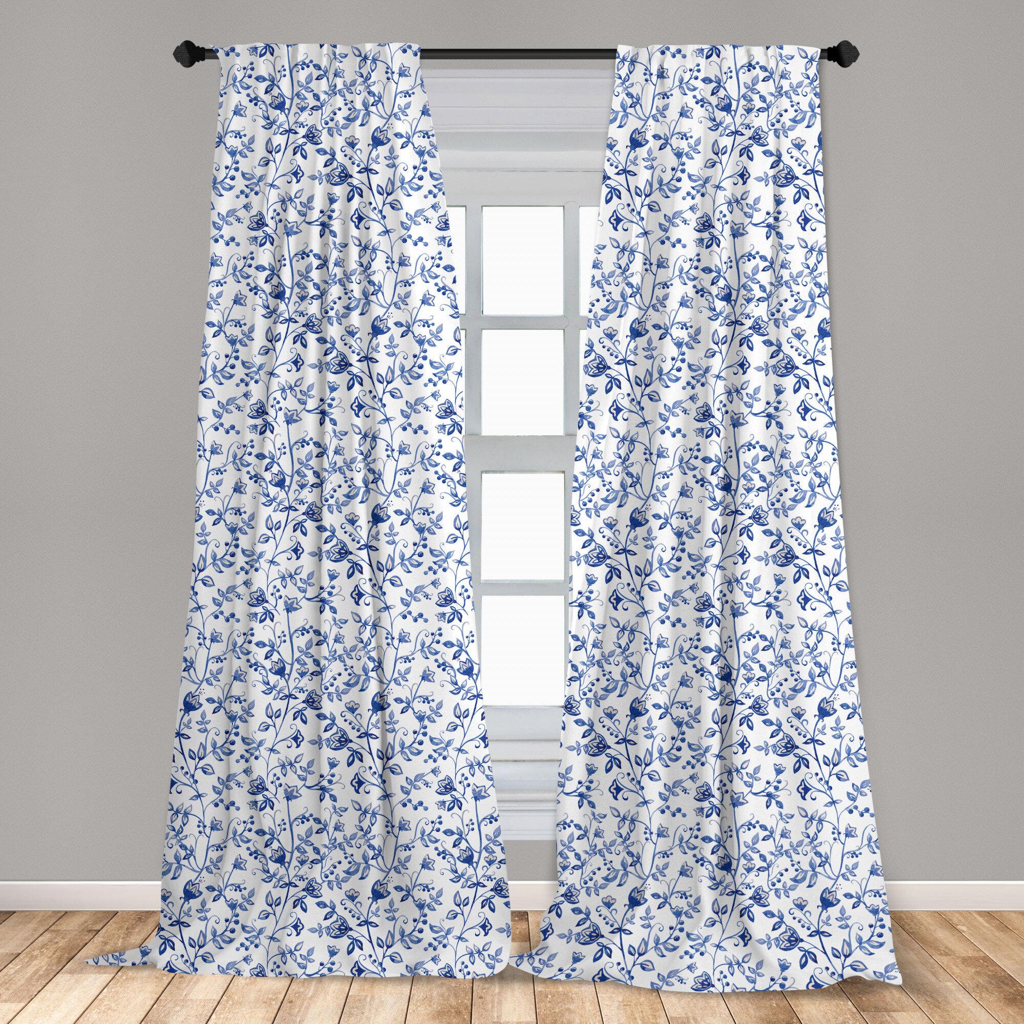 East Urban Home Felsenthal Watercolor Floral Room Darkening Rod Pocket Curtain Panels Reviews Wayfair
