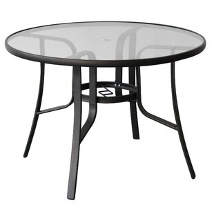 Mariela Glass Dining Table by Freeport Park