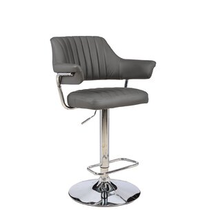 Castlethorpe Series Adjustable Height Swivel Bar Stool by Orren Ellis