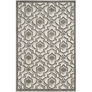Maritza Wool Ivory/Gray Indoor/Outdoor Area Rug by Willa Arlo Interiors