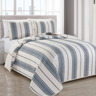 Navy Striped Quilts Coverlets Sets You Ll Love In 2021 Wayfair