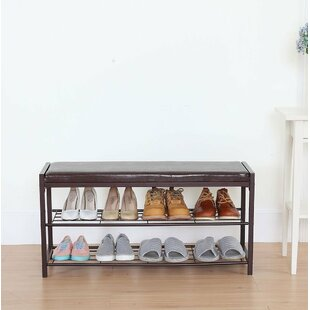 Online Reviews 2 Tier Shoe Storage Bench By Rebrilliant