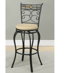 Giunta Beautifying Metal 24 Swivel Bar Stool (Set of 2) by Fleur De Lis Living
