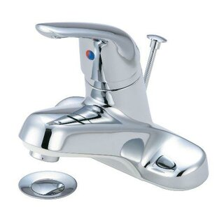 Just Manufacturing Centerset Bathroom Faucet with Pop-Up Drain