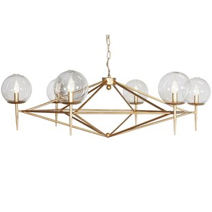 Worlds Away 6-Light Geometric Chandelier