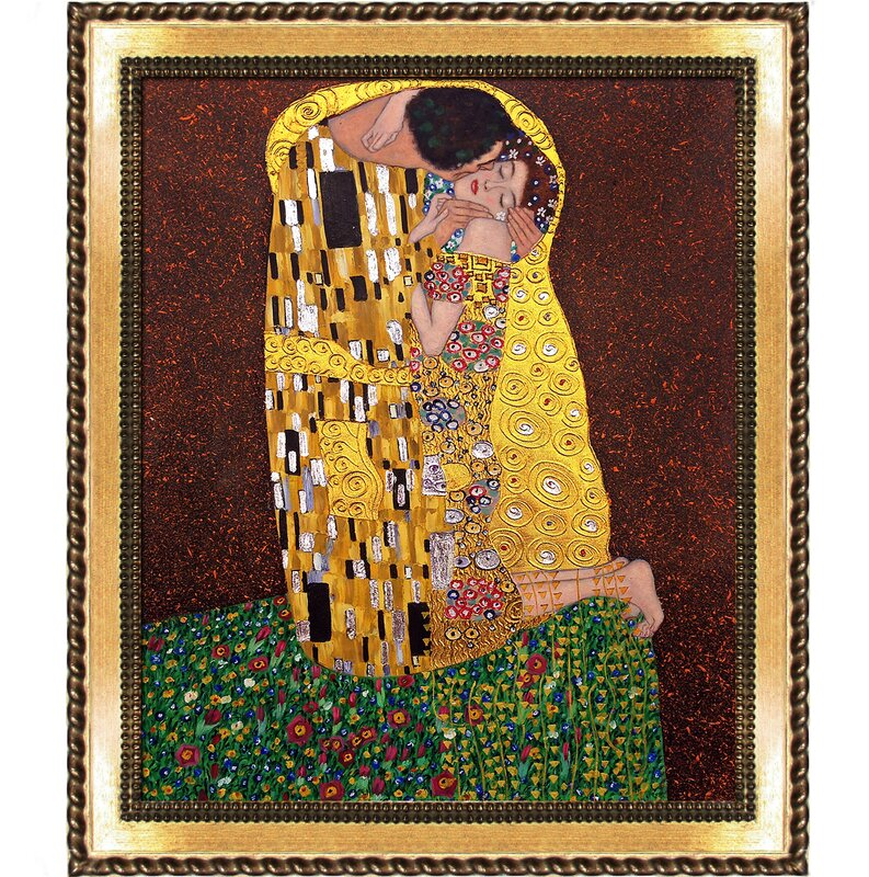 Tori Home The Kiss Full View Metallic Embellished by Gustav Klimt ...
