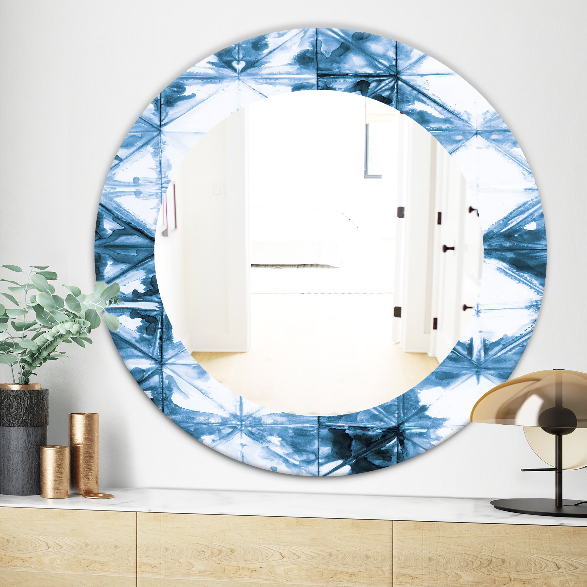 East Urban Home Geometrical I Mid Century Wall Mirror Wayfair